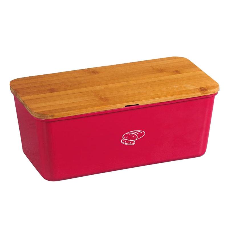brotkasten brotbox mit schneidbrett rot eckig melamin. Black Bedroom Furniture Sets. Home Design Ideas